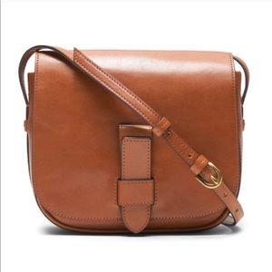 Banana Republic Italian Leather Brown Saddle Bag